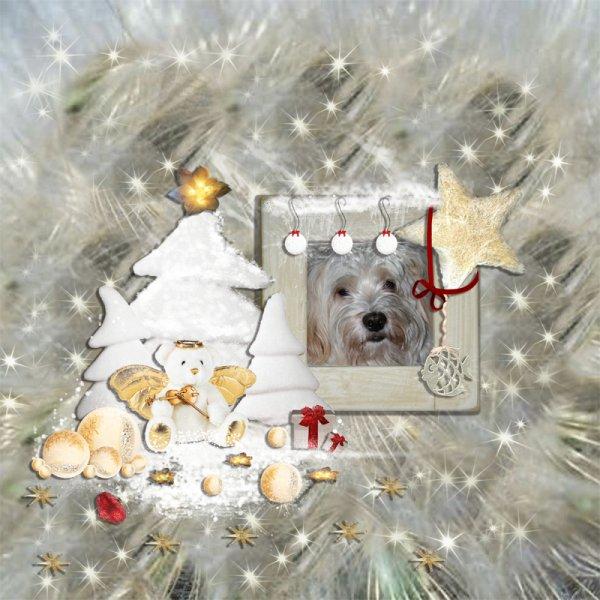 Boldog Karácsonyi Ünnepeket! (Scrapbook - QP white beary)