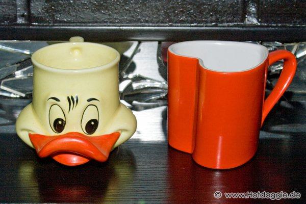 Donald kacsa és Szerelmes szív bögrék