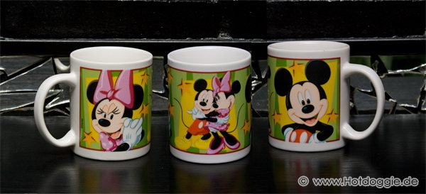A szerelmes Miki és Minnie egér képregény bögre