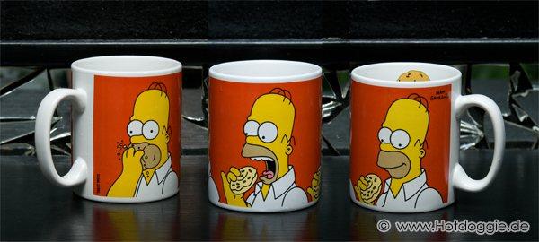 Homer Simpson tömése képregény bögre