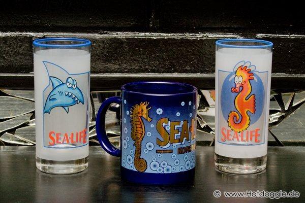 Sealife Cápa és Tengeri csikó pohár és Sealife tengeri csikó bögre