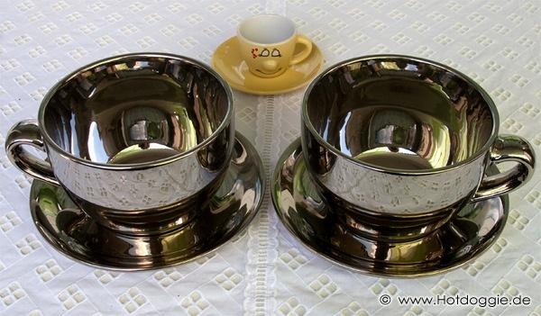 Krómozott Ezüst Királyi Csészék