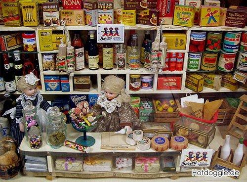 Miniatur Einkaufsladen