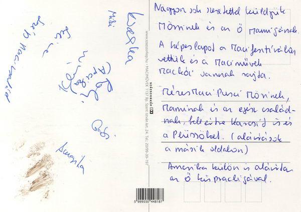 Dedikált képeslap