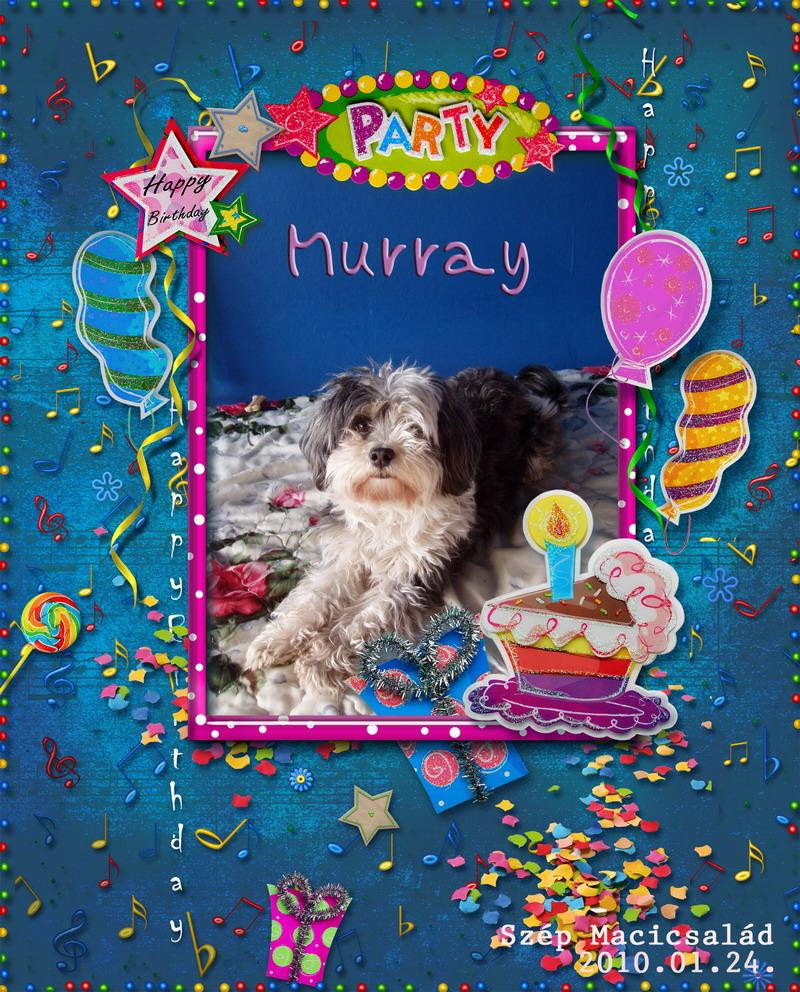 Scrapbook ajándék Szép Macicsaládtól: Murray 9. születésnapja