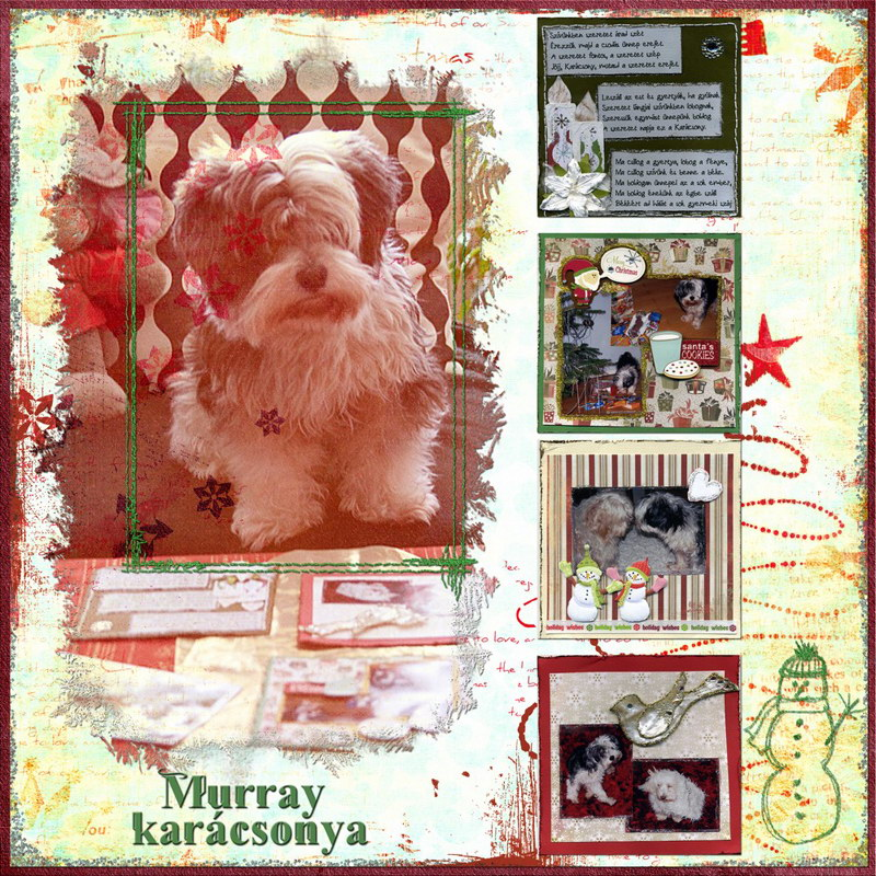 Murray karácsonya ajándék scrapbook Szép Macicsaládtól