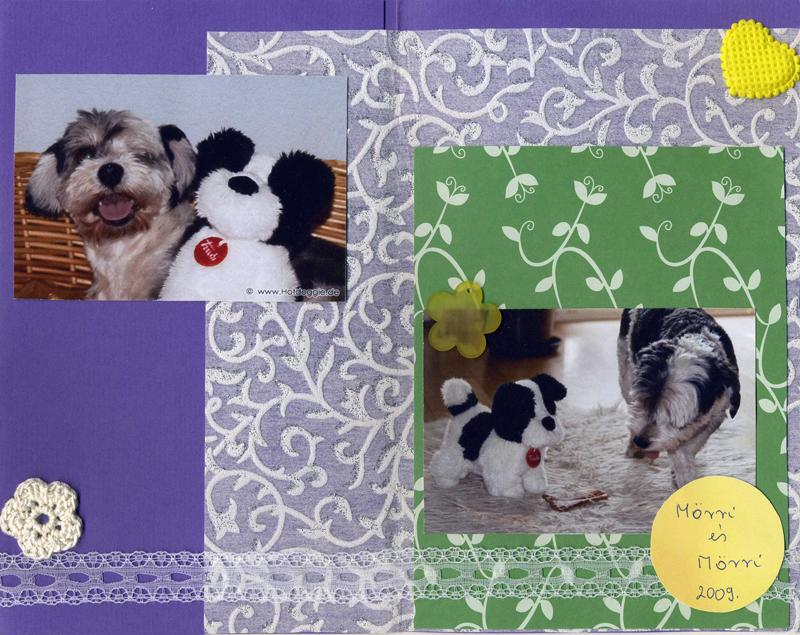 Mörri és Mörri hagyományos scrapbook ajándék Szép Macicsaládtól - Design: Secima (http://macicsalad.freeblog.hu/)