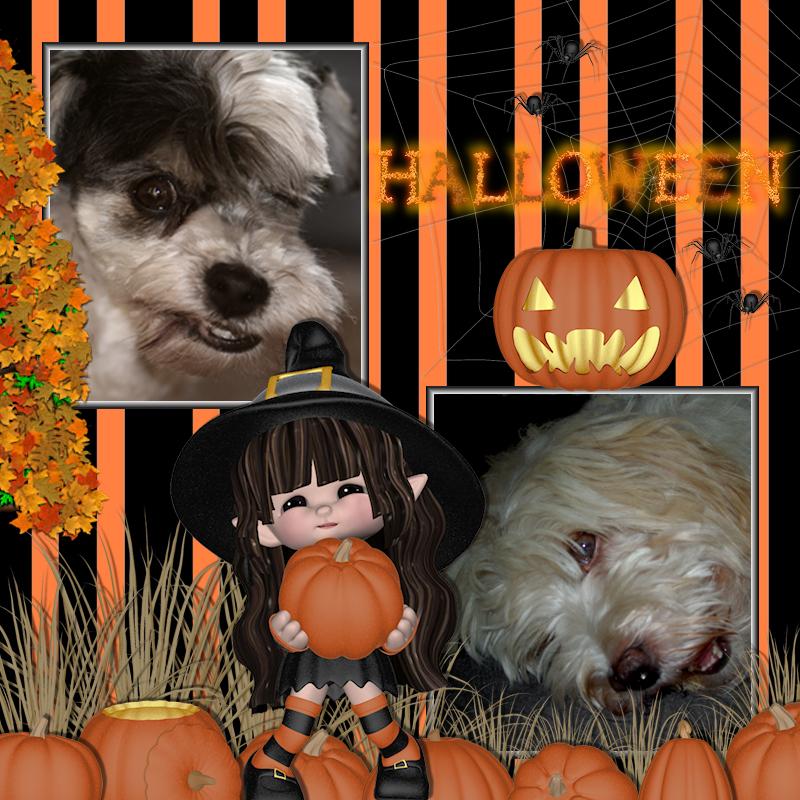 Halloween scrapbook (QP8 Scrap and Tubes)
