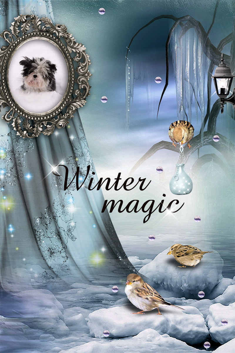 Peaceful Winter - Quickpage by MagicalReality Designs